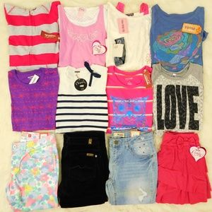Girl Size 14/16 Clothes Lot Tops Jeans Sweater NWT